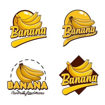 Un distintivo del logo set banana