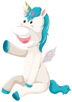 Un felice personaggio dell'unicorno