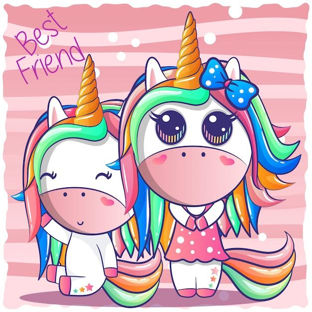 Un felice unicorno di amicizia