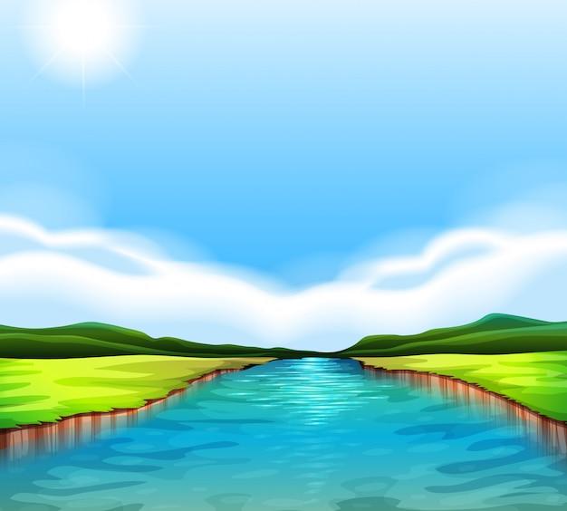 Un fiume che scorre