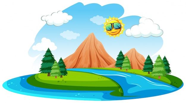 Un fiume paesaggio naturale