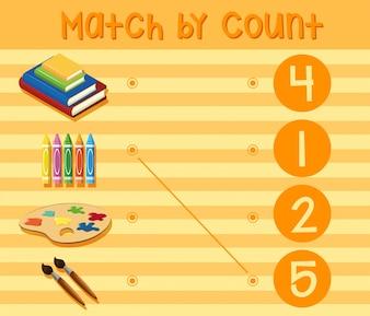 Un foglio di lavoro del numero di matematica