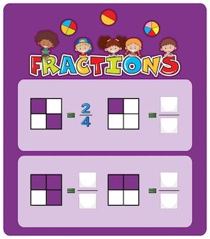 Un foglio di lavoro per le frazioni matematiche