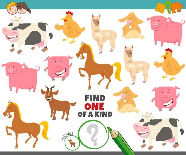 Un gioco unico per i bambini con animali da fattoria