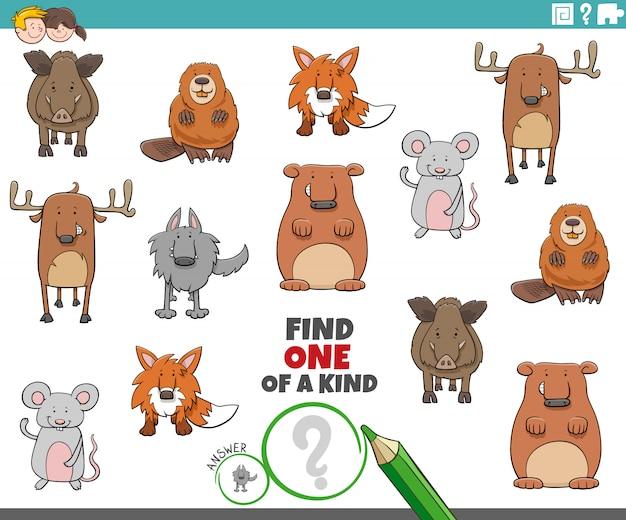 Un gioco unico per i bambini con animali