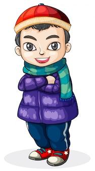 Un giovane ragazzo cinese