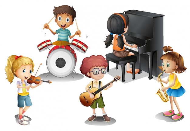 Un gruppo di ragazzi di talento