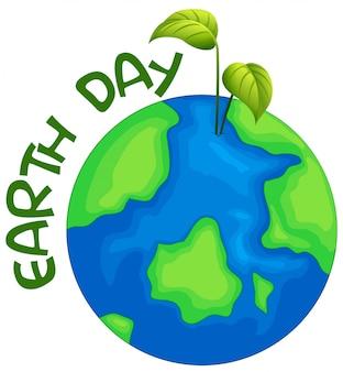Un'illustrazione del giorno della terra