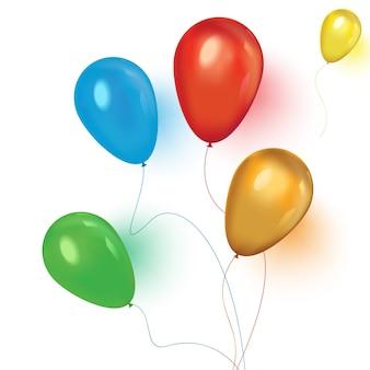 Un'illustrazione di una serie di palloncini colorati compleanno o festa