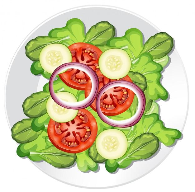 Un'insalata di verdure sana