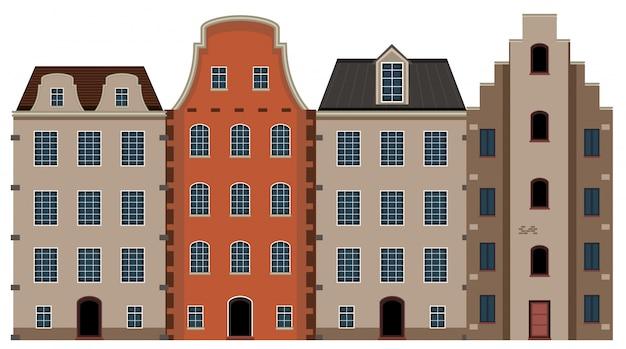 Un insieme di architettura casa olandese