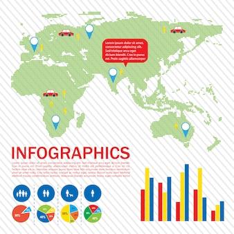 Un'interfaccia grafica di una mappa