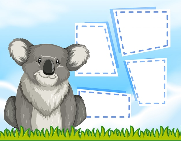 Un koala sullo sfondo