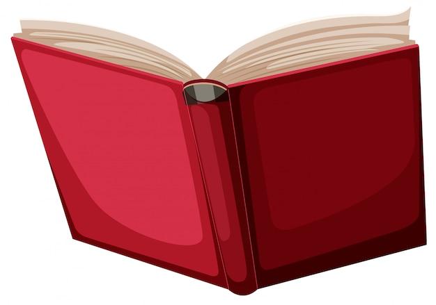 Un libro rosso su sfondo bianco