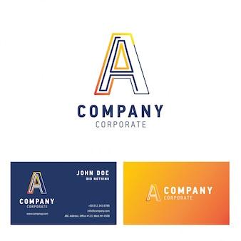 Un logo aziendale design con biglietto da visita vettoriale