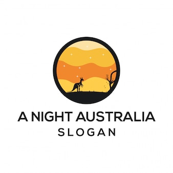 Un logo della notte australia