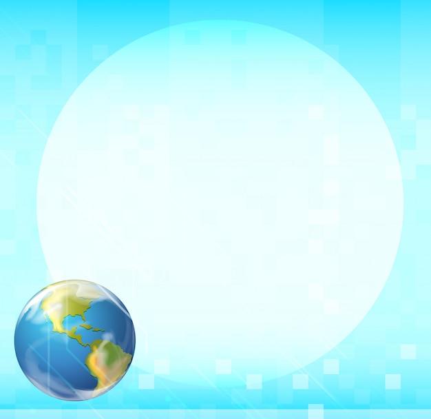 Un modello con un globo