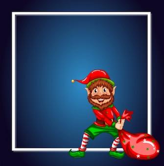 Un modello di elfo di natale