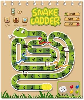 Un modello di gioco a scala serpente
