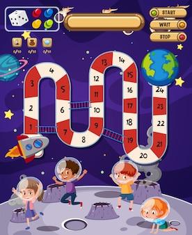 Un modello di gioco spaziale