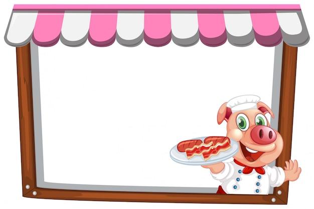 Un modello di nota chef maiale