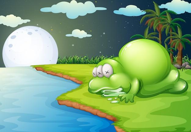 Un mostro che dorme vicino al fiume