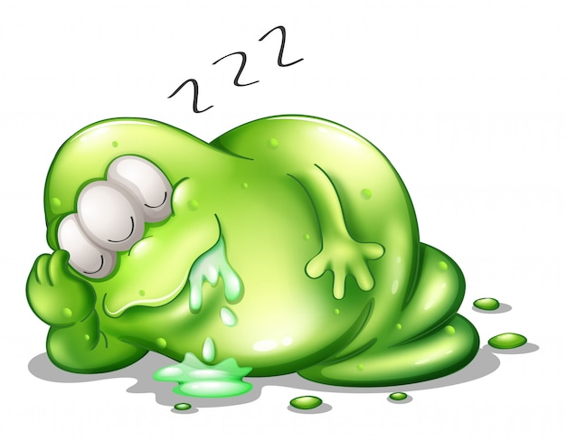 Un mostro di greenslime che dorme