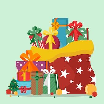 Un mucchio di regali di natale
