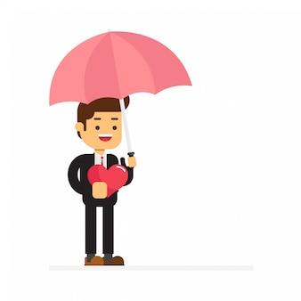 Un ombrello azienda imprenditore