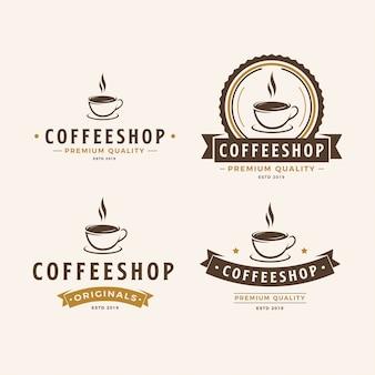 Un pacchetto di logo della tazza di caffè