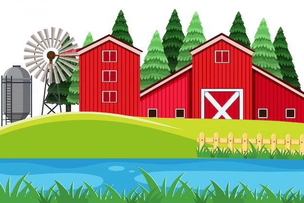 Un paesaggio agricolo rurale
