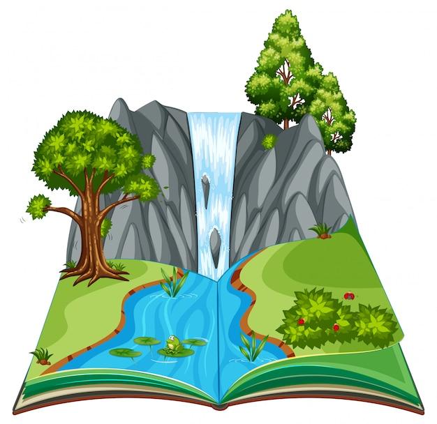 Un paesaggio del libro pop-up