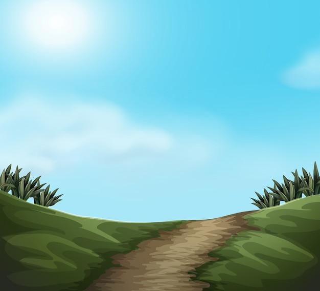 Un paesaggio verde