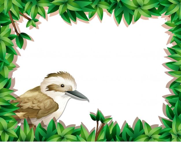 Un passero sul modello di natura