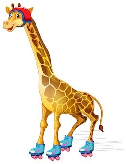 Un pattinaggio su ghiaccio di giraffa