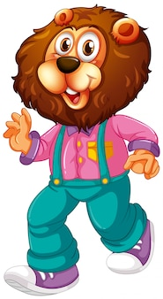 Un personaggio dei cartoni animati di leone