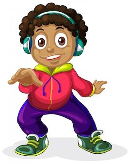 Un personaggio di bambini americani africani