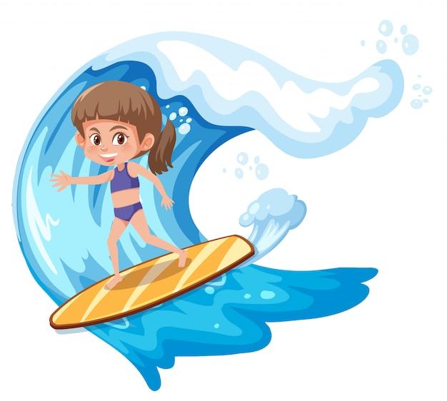 Un personaggio di ragazza surfista