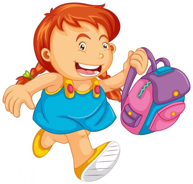 Un personaggio di una ragazza della scuola