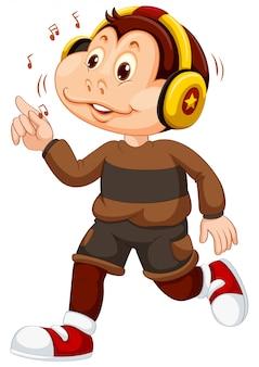 Un personaggio giovane scimmia