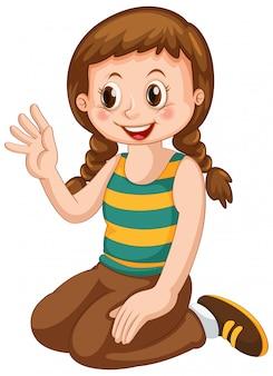 Un personaggio ragazza carina