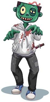 Un personaggio zombie