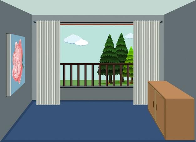 Un progetto di stanza d'appartamento vuota