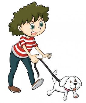 Un ragazzo sorridente e un cane