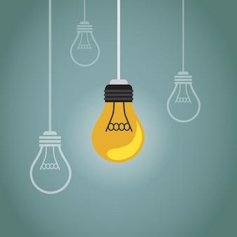 Un sacco di lampadine e una sola