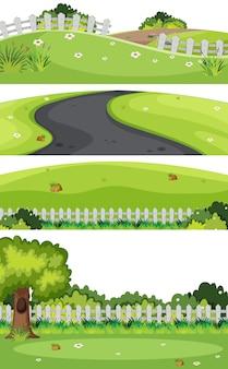 Un se del paesaggio verde della natura