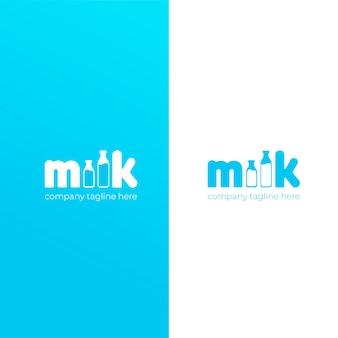 Un semplice logo carino per la marca di latte vaccino.