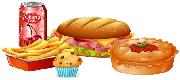 Un set di fast food