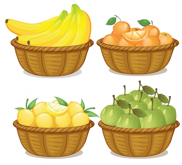 Un set di frutta nel carrello