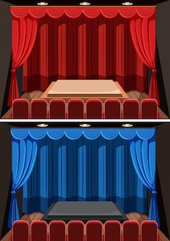 Un set di sfondo palco vuoto